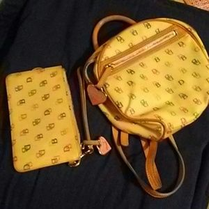 Dooney and bourke backpack wristlet